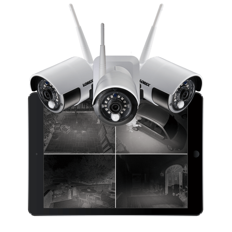 wire-free security camera with infrared night vision