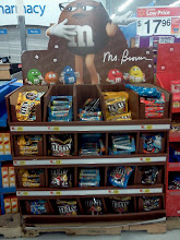 Photo: Walking out of the Gatorade aisle I spotted the M&M's display, if you find a bag of all brown m&m's then you win money! Fingers crossed my bag is all brown!