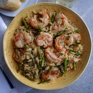 Lemon Shrimp Orzo with Asparagus Recipe