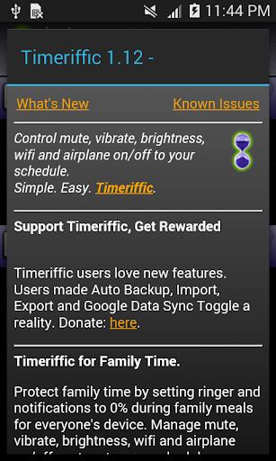 Timeriffic screenshot 8