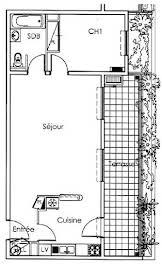 Appartement 2 pièces 53,91 m2
