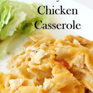 Cheesy Salsa Chicken Casserole.