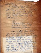 Photo: NavCAD Patrick Alonzo Tillery letter home from flight school 1954
