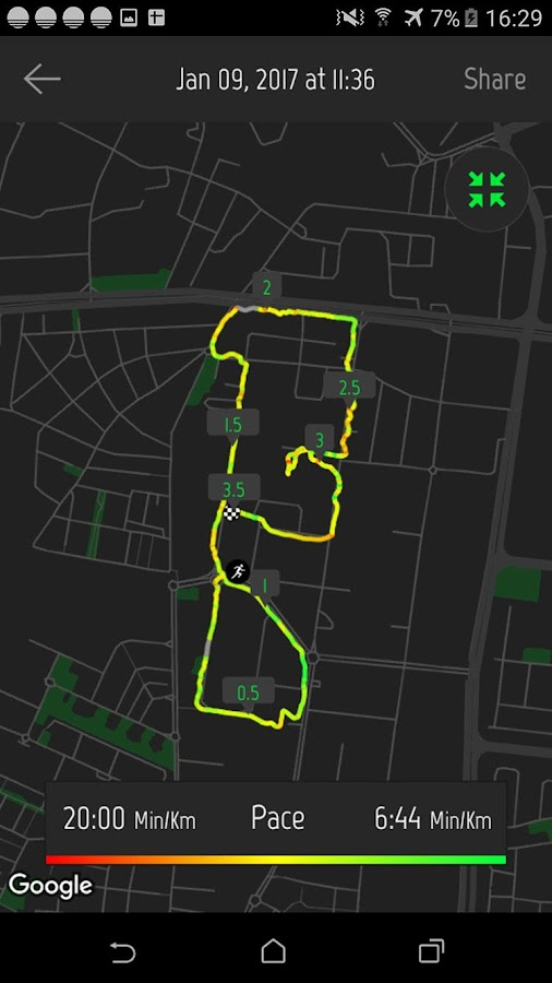 Running Distance Tracker +- screenshot
