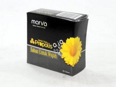sabun herbal alami ekstrak propolis marva aman bpom menyegarkan melembabkan melembutkan kulit wajah