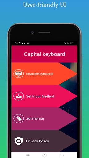 Capital Keyboard app screenshot 1
