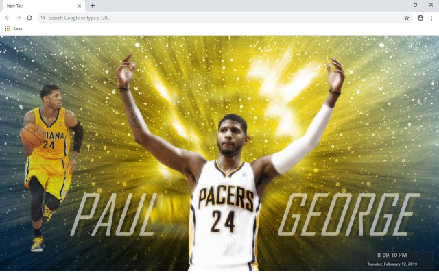 Paul George NBA New Tab