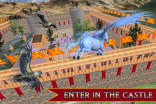 Flying Unicorn Horse Family Jungle Survival 4.0 screenshots 11