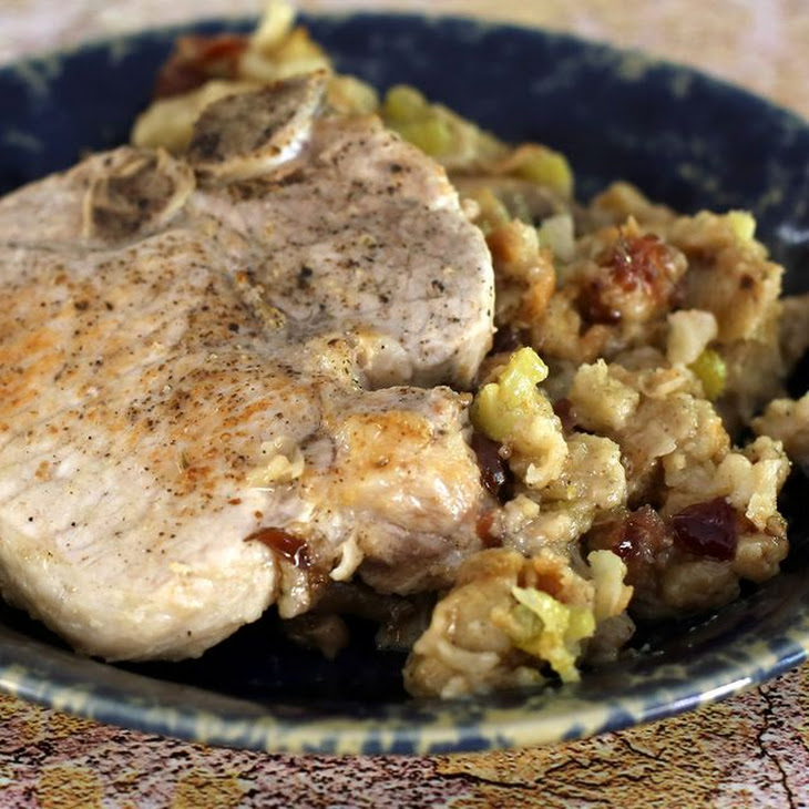 Quick and Easy Pork Chop and Stuffing Casserole