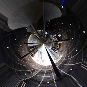 potsdamerplatz by Tyler Sleap - Abstract Fine Art ( abstract, station, ubahn, germany, berlin, underground, globe )