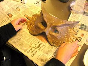 Photo: Student maskmaking.