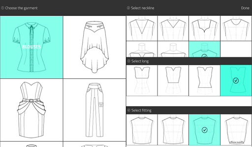 Fashion Design Flat Sketch Screenshot