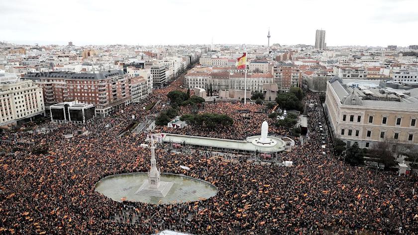 Panorámica de la Plaza de Colón.