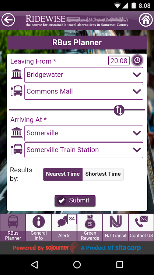 RideWise(SC)- screenshot