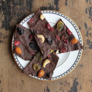 Pumpkin and Spice Dark Chocolate Bark.