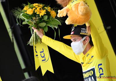 """Roglic als favoriet na de Pyreneeën nu ook aan de leiding: """"Je staat niet elke dag in het geel"""""""