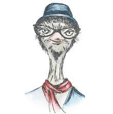 Tim Holtz Sizzix Thinlits Die Set 6/Pkg - Hipster Ostrich