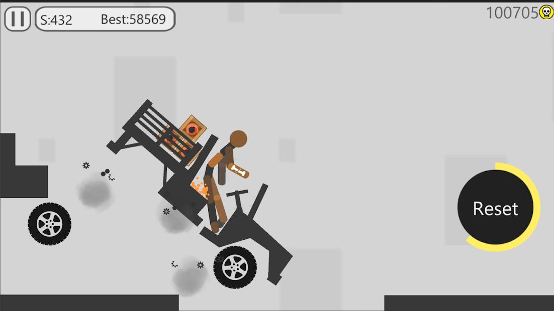 Stickman Dismounting Stunt