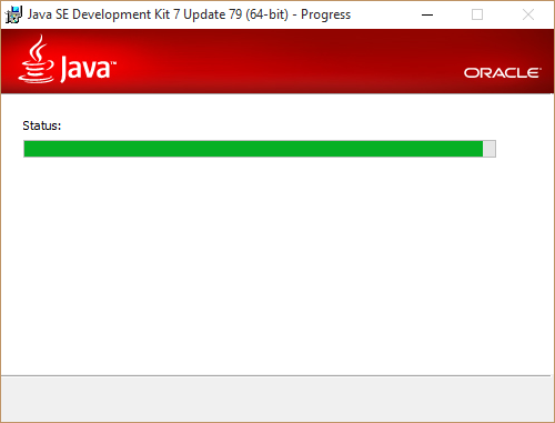 Wait for Java installation