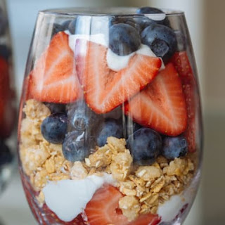 Red, White, and Blueberry Parfait.