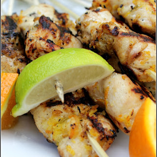 Grilled Citrus Chicken Kabobs | a grill season must have