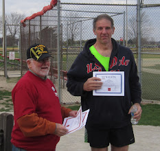 Photo: Navy Veteran Chief shows off his Run 4 Vets certificate