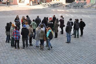 Photo: Naše skupina před katedrálou.