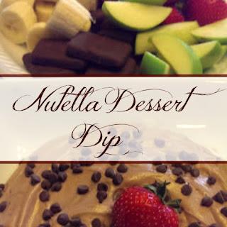 Skinny Nutella Dessert Dip