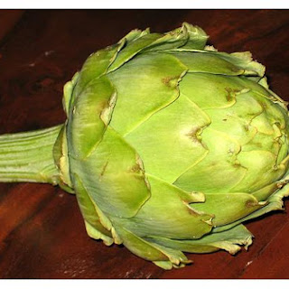 Fresh Artichokes With Lemon Butter Sauce.