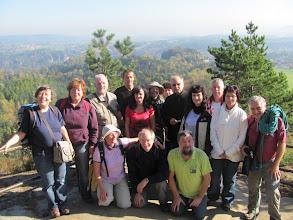 Photo: Die Teilnehmer der Bergwanderung und Klettertour in den Rauensteinen