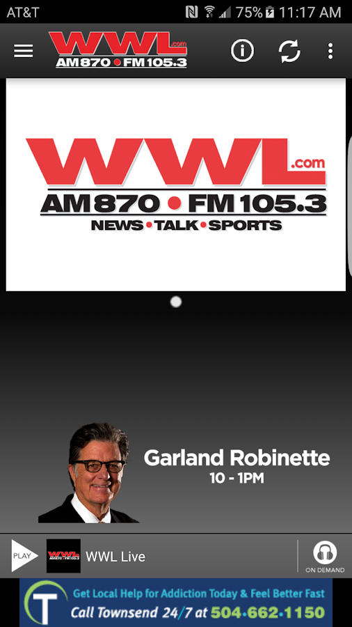 WWL - AM870/FM 105.3- screenshot