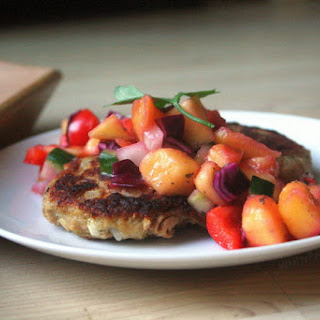 Plantain Fish Cakes with Mango Salsa.