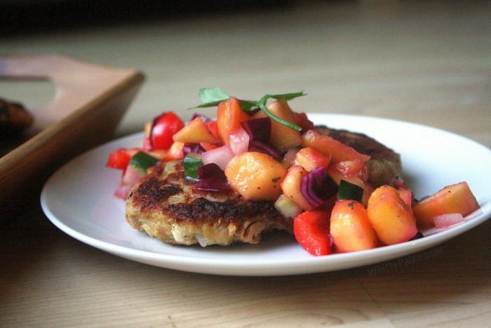 Plantain Fish Cakes with Mango Salsa