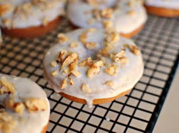 Banana Walnut Breakfast Doughnuts