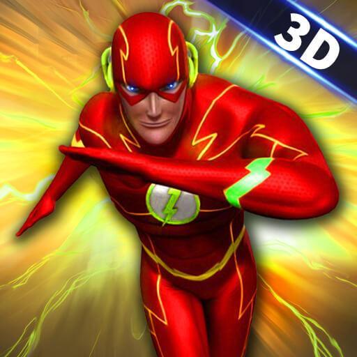 Flash Superhero Games - Super Light Crime City 3D