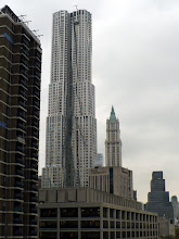 Photo: Frank Gehry's tower with the iconic Woolworth Building further east. The Woolworth was the tallest building in the world from 1913 to 1930.