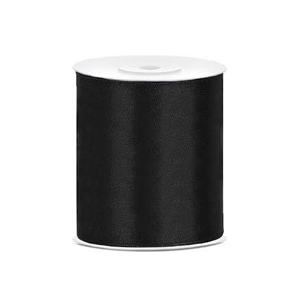 Satinband - Svart 100 mm