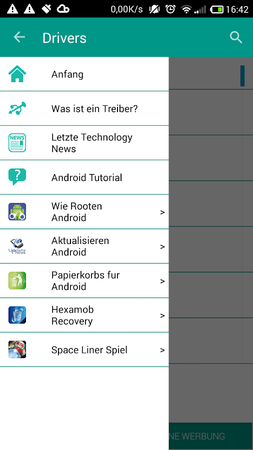 USB Drivers for Android – Screenshot
