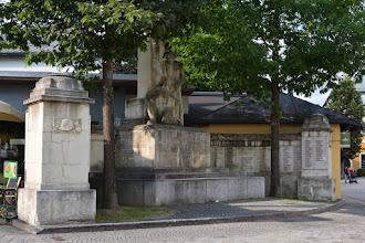 Photo: Pomnik ku czci poległych w obu wojnach światowych.