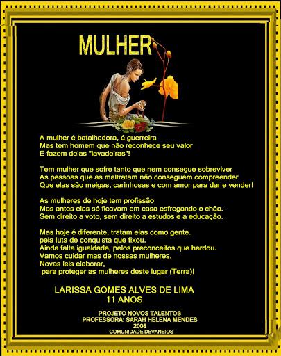 C.DEVANEIOS- ORKUT - ADMINISTRAÇÃO SARAH MENDES - NOVOS TALENTOS- LARISSA /Nº 02-