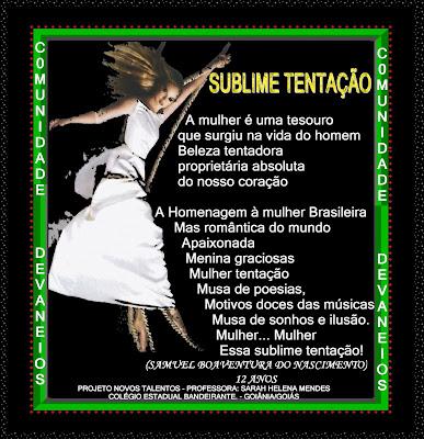C.DEVANEIOS/ORKUT - ADM. SARAH MENDES - NOVOS TALENTOS- SUBLIME TENTAÇÃO_SAMUEL /Nº 03-