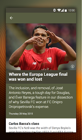 android UEFA Europa League Screenshot 2