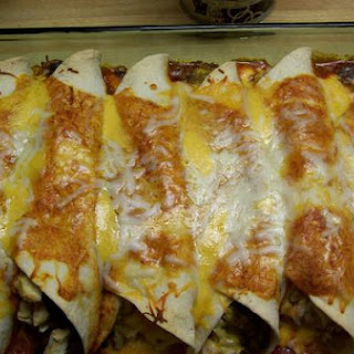 Chicken, Rice and Black Bean Burritos