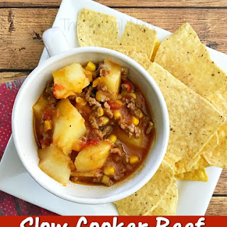 Slow Cooker Southwestern Beef Soup