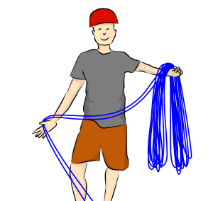 une corde peut peser lourd sur le bras