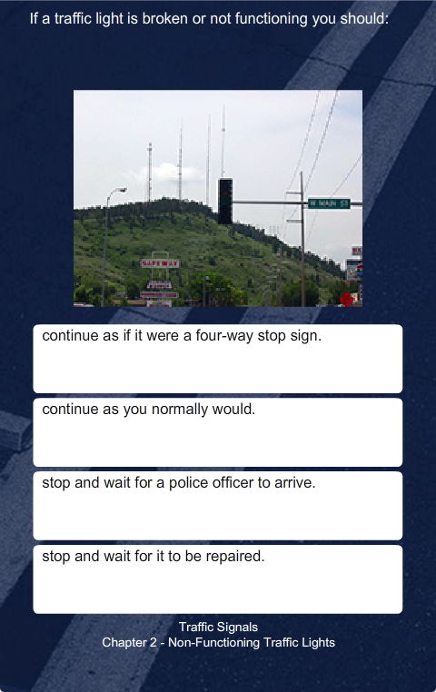 PA Driver's Practice Test- screenshot