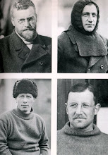Photo: ..... J. H. Wordie ( geólogo)..... , Robert S. Clark  (biólogo)  .... Leonard D. A. Hussey ( meteorólogo) ... ... A. H. MAcklin ( médico)