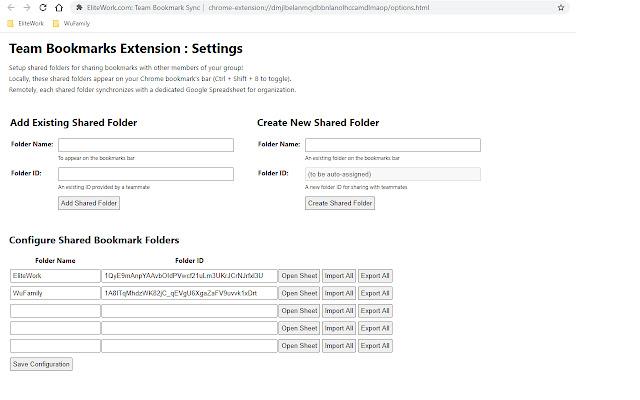 Team Bookmark Folders by EliteWork