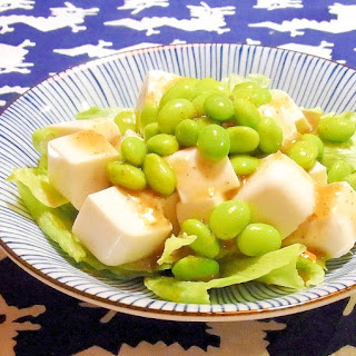Green Soybeans and Tofu Salad
