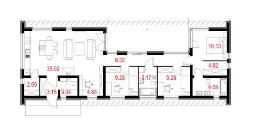 House 15 - Rzut parteru